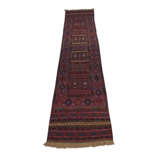 "Afghan Tribal Soumak Kilim Runner-2'3'x10'1"" For Sale"