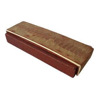 R and Y Augousti Red Shagreen and Alligator Box For Sale