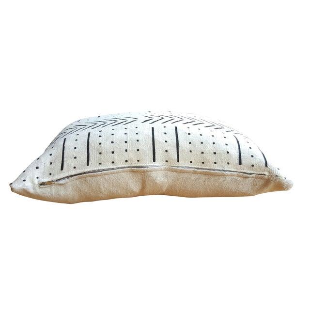 White African Mud Cloth Lumbar Pillows - A Pair - Image 3 of 4