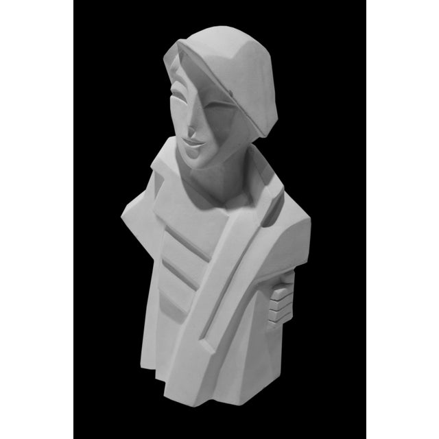 White Karin Swildens White Deco Man and Woman Cast Sculptures For Sale - Image 8 of 13
