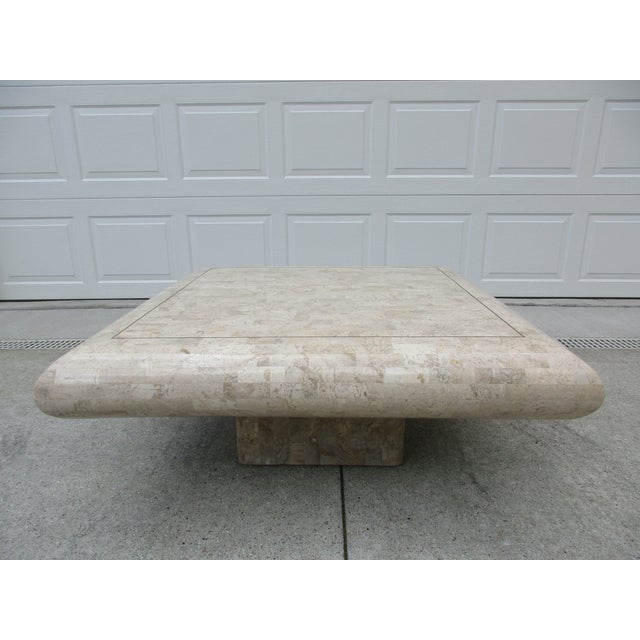 Tessellated Stone Coffee Table for Mission Furniture Los Angeles For Sale - Image 11 of 11