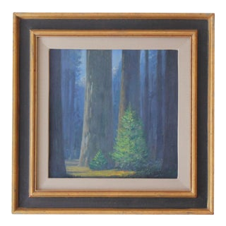 """Fir Trees in Woods"" by Geoffrey F. Lewis For Sale"