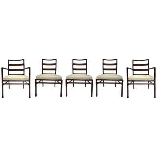 t.h. Robsjohn-Gibbings Set of Ladder Back Dining Chairs For Sale