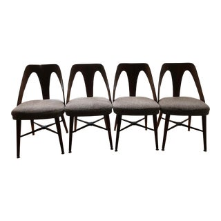 1960s Mid-Century Modern Lawrence Peabody Chairs - Set of 4 For Sale