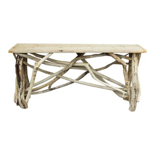 Organic Modern JS Handmade Locally Sourced Driftwood Console For Sale