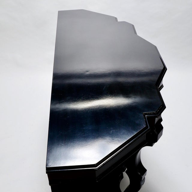 Italian Ebonised Mahogany Console with Mirrored Back For Sale In Detroit - Image 6 of 10