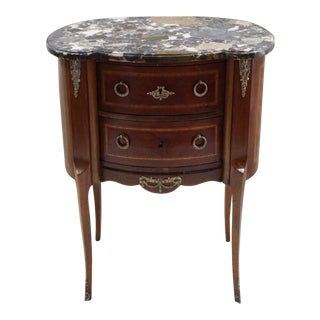 1920s Louis XVI Style Mahogany Marquetry Commode For Sale