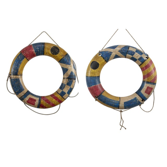 Pair of Life-Savers For Sale In New York - Image 6 of 6