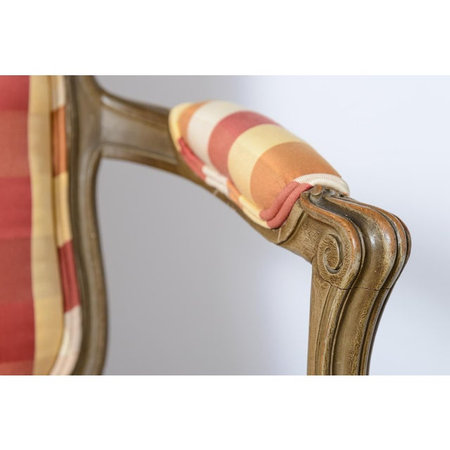 Late 19th Century Painted French Fauteuils - a Pair For Sale In West Palm - Image 6 of 11