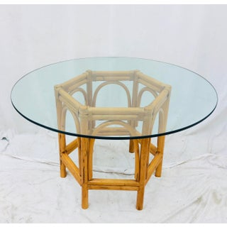 Vintage Bent Rattan & Glass Table Preview