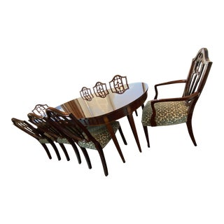 Kindel Winterthur Collection Mahogany Dining Set - 9 Pieces For Sale