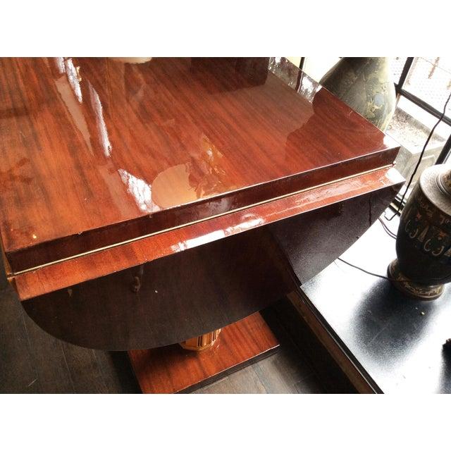 Wood Gilbert Rohde Art Deco Oval Drop-Leaf Desk For Sale - Image 7 of 13