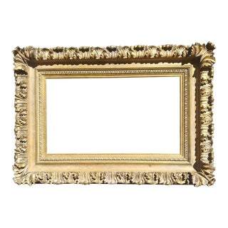 """Mid 20th Century Renaissance Style Acanthus Leaf Picture Frame 16"""" X 28"""" For Sale"""