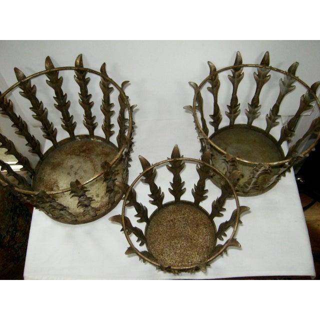 Vintage Italian Nest of 3 Acanthus Leaf Baskets - Set of 3 - Image 7 of 8