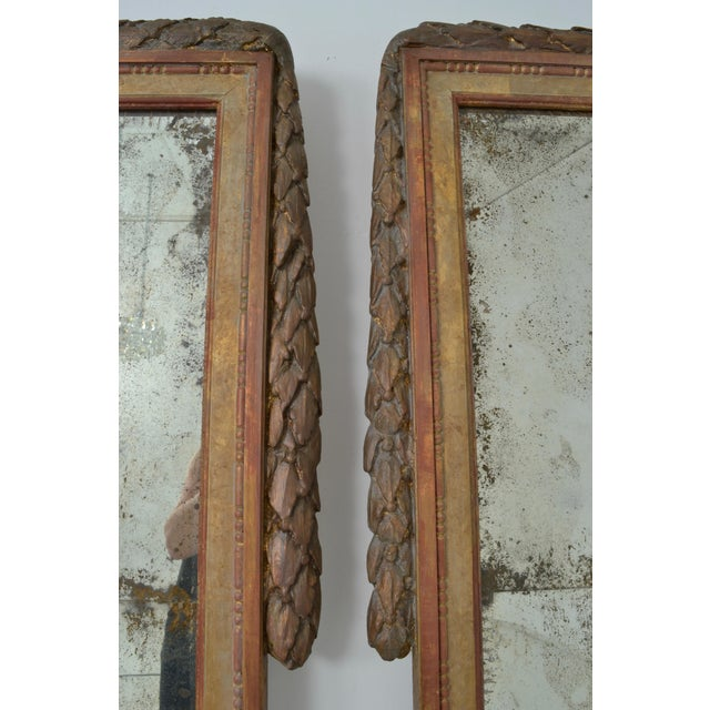 Large Niermann Weeks Neoclassical Mirrors with Antiqued Glass - a Pair - Image 5 of 9