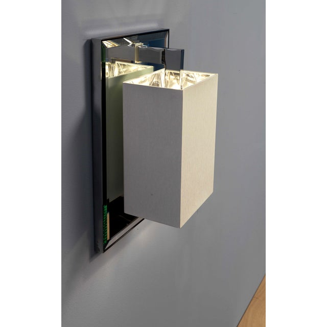 Contemporary Coco Deluxe Ap Chrome Wall Sconce For Sale - Image 3 of 6