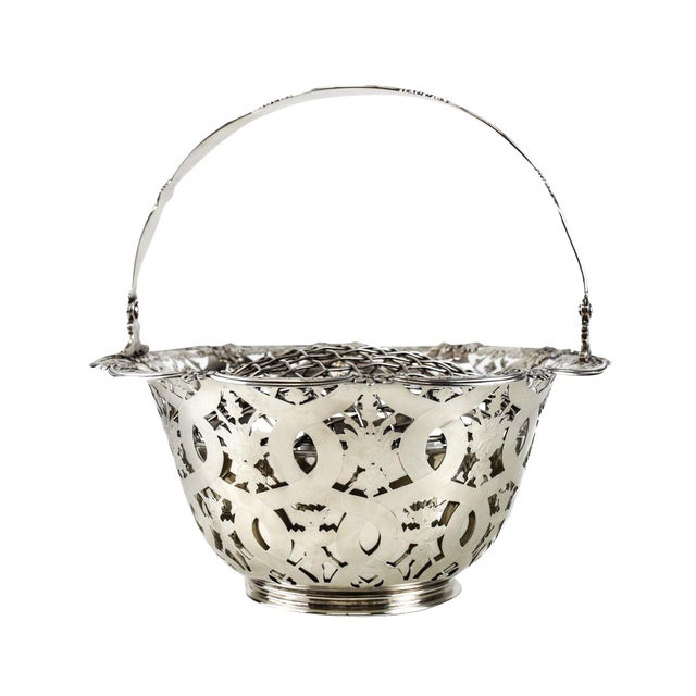 Tiffany & Co Makers Sterling Silver Flower Basket #16201, John C. Moore For Sale