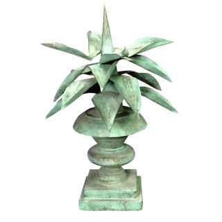Italian Crafted Tin Agave Plant For Sale