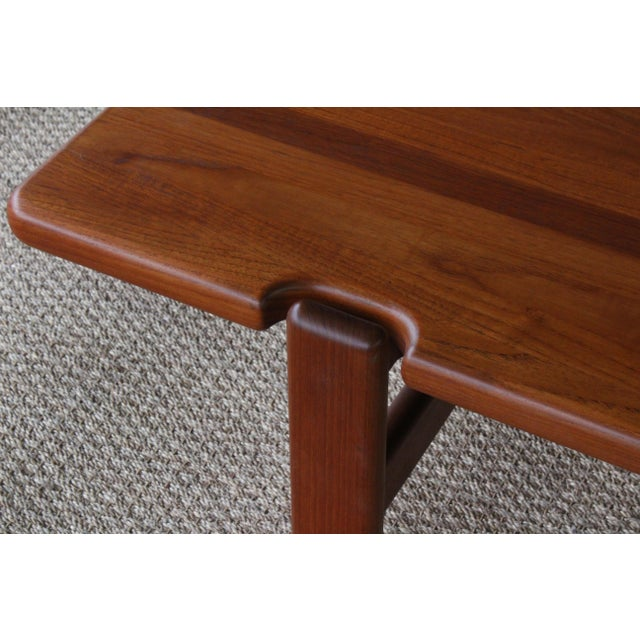1960s Danish Modern Solid Teak Coffee Table, Denmark, 1960s For Sale - Image 5 of 9