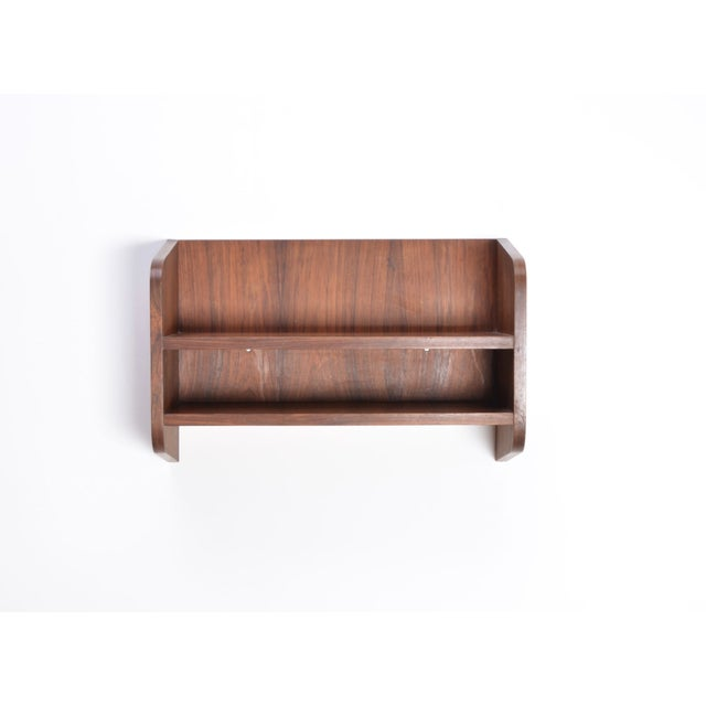 Rosewood Small Danish Rosewood Wall Shelf, 1960s For Sale - Image 7 of 10