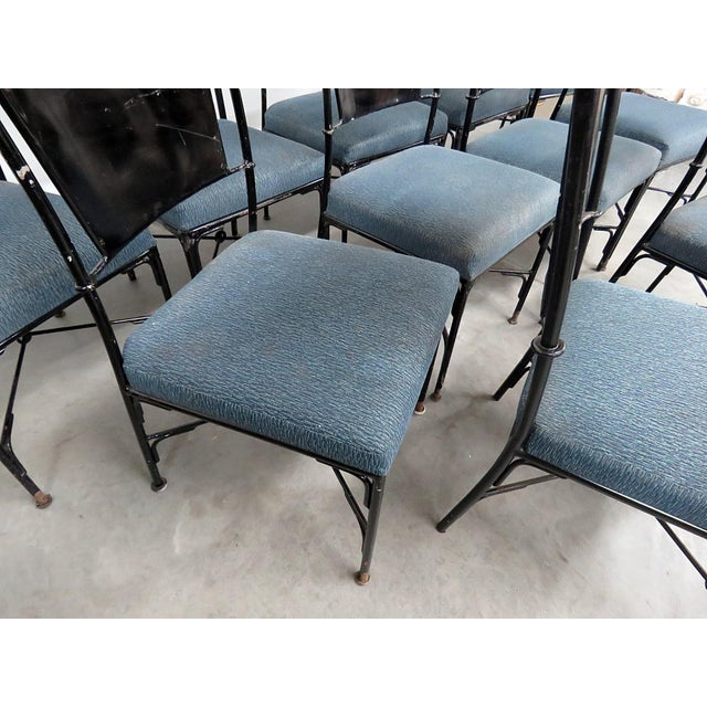 Vintage Mid-Century Modern Metal Dining / Side Chairs - Set of 10 For Sale - Image 9 of 13