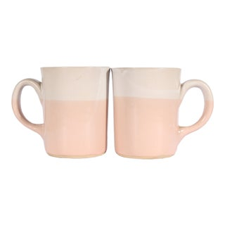 Martz Marshall Studios Pink and White Coffee Mugs For Sale