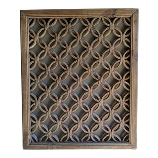 19th Century Vintage Qing Dynasty Hand Carved Window Panel Screen For Sale