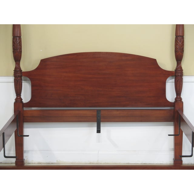 Henkel Harris Queen Size Cherry Rice Carved Poster Bed - Image 2 of 11