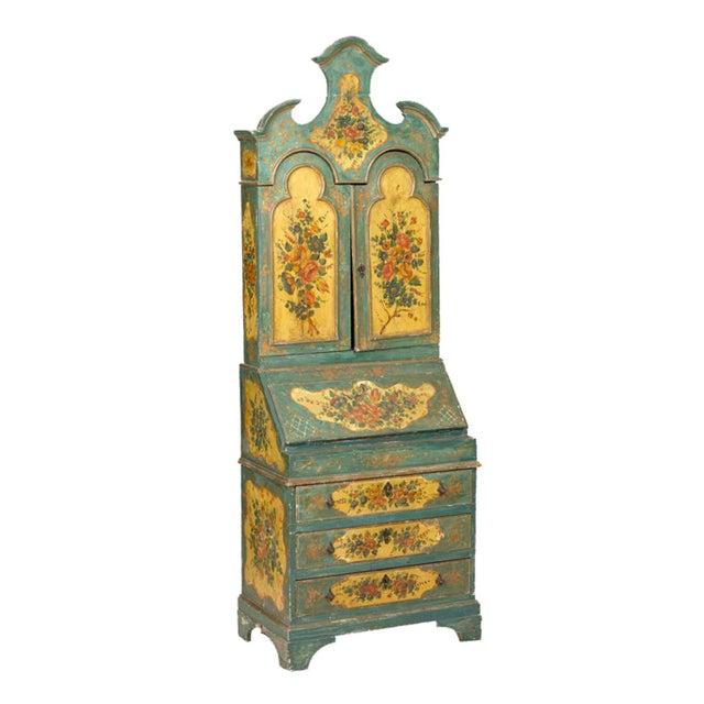 Early 20th Century Louis XVI Oak Venetian Secretary For Sale - Image 5 of 5