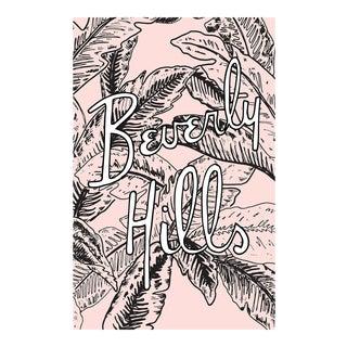 """""""Beverly Hills Pink Palm Illustration"""" 48x30 Original Framed Illustration"""