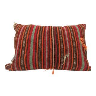 Vintage Handmade Turkish Kilim Pillow For Sale