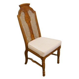 Late 20th Century Vintage Henry Link Dixie Contemporary Style Cane Back Dining Chair For Sale