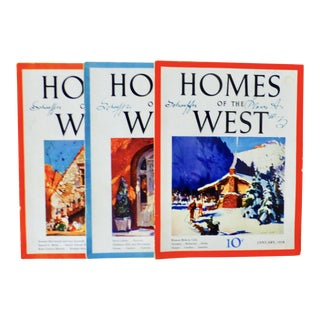 """Homes of the West"" Magazines - Set of 3 For Sale"