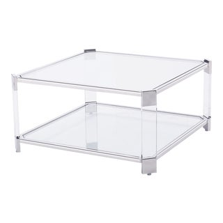 Blink Home Silver Square Cocktail Table For Sale