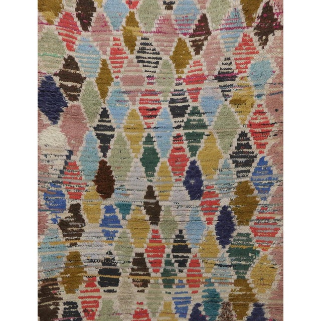 Islamic 1970s Vintage Boujad Moroccan Rug - 2′11″ × 7′1″ For Sale - Image 3 of 6
