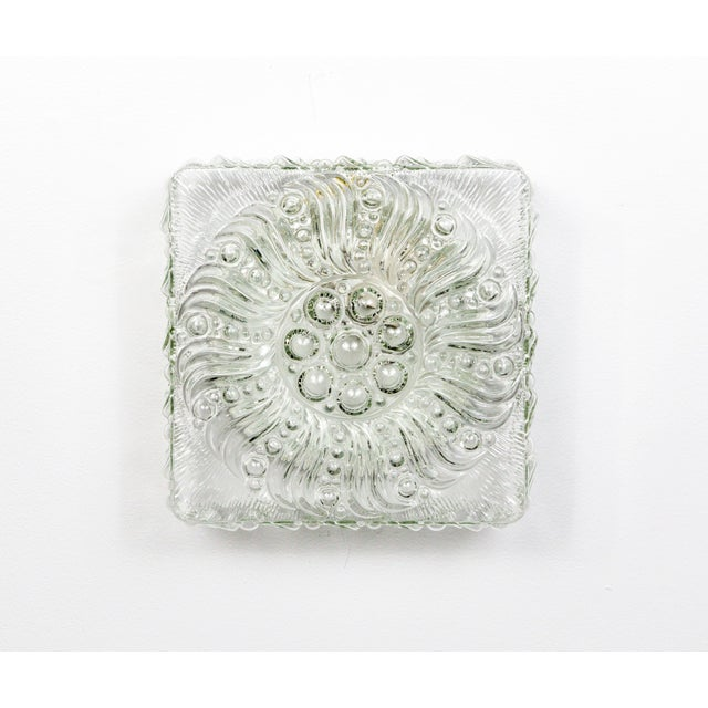 Mid-Century Radial Bloom Glass Flush Mount For Sale - Image 9 of 12