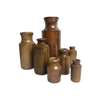 English Stoneware Ink Pots For Sale