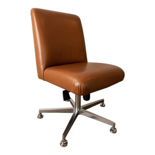 Contemporary Italian Leather Executive Chair For Sale