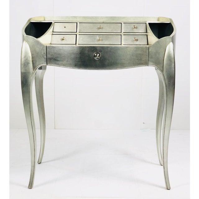2010s Art Deco Century Furniture Silverleaf Vanity For Sale - Image 5 of 5