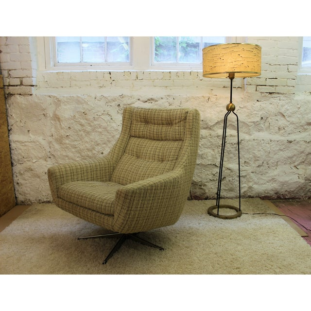 Mid-Century John Stuart Upholstered Chair Ottoman For Sale - Image 11 of 11