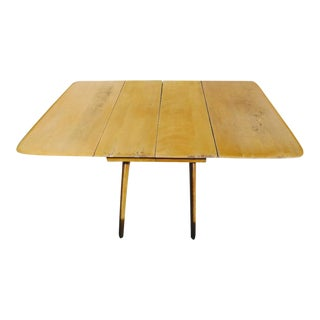 Mid Century Modern Heywood Wakefield Butterfly Wishbone Leg Maple Dining Room Table Circa 1948 For Sale