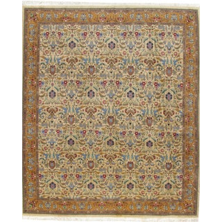 "Vintage Persian Tabriz Hand Woven Carpet 9'10"" X 11'6"" For Sale"