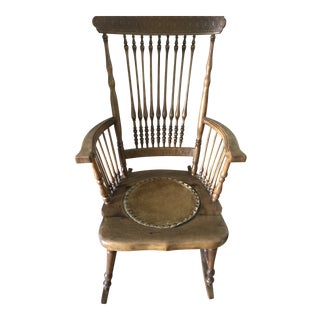 Antique Rustic Rocking Chair For Sale