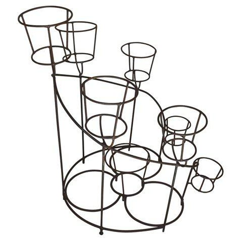 Mid 20th Century French Wrought Iron Plant Stand For Sale - Image 5 of 6