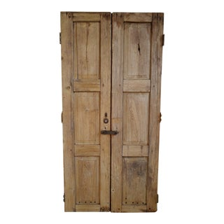 Mid 20th Century Old Pine Farm Doors For Sale
