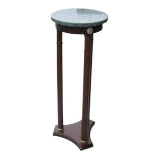 Traditional Marble Top Plant Stand For Sale