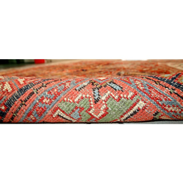 1920s Hand Made Antique Persian Heriz Rug - 5′7″ × 8′1″ - Image 3 of 10