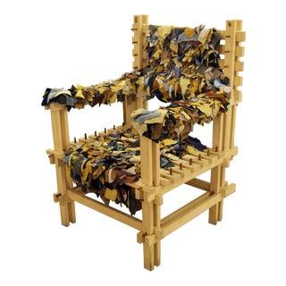 Anacleto Spazzapan Wooden Armchair