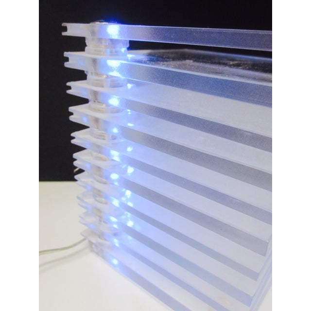 Lucite Plastic Stacking Mood Lamp Light - Image 8 of 9