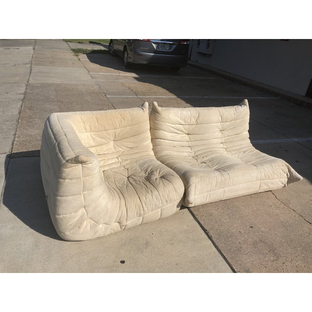 1970s Mid-Century Modern Ligne Roset Togo French Sectional Sofas - 2 Pieces For Sale - Image 13 of 13